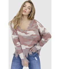 sweater camuflado zinerva rosado racaventura