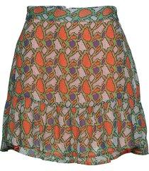 emmanuella kort kjol orange custommade