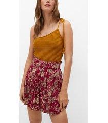 mango women's printed flowy shorts