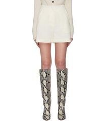 'daira' front pleat cady mini shorts
