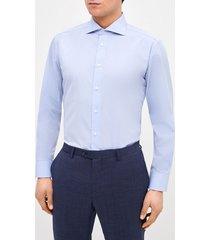 camisa formal celeste jacquard trial