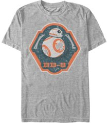 star wars men's bb-8 badge logo short sleeve t-shirt