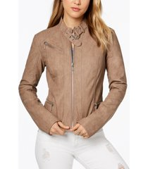 collection b juniors' faux-leather buckle-collar moto jacket