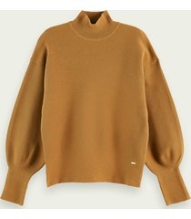 scotch & soda katoenen sweater met hoge hals