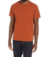 men's madewell garment dyed allday crewneck t-shirt, size small - orange