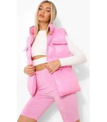 bodywarmer met hoge kraag, hot pink