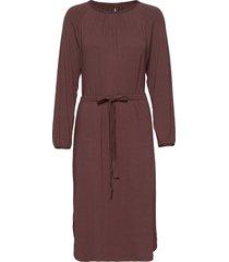space dress knälång klänning brun moshi moshi mind