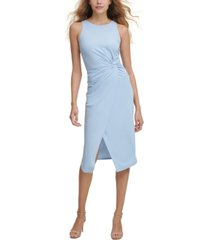 guess twist-front scuba-crepe sheath dress