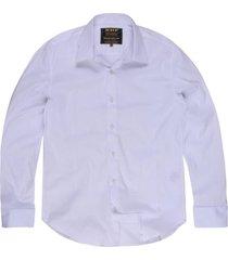 camisa khelf elastano branco