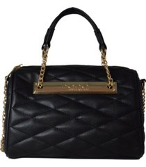 bebe abigail barrel small satchel