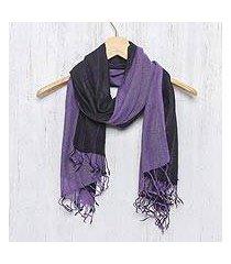 cotton scarf, 'purple duo' (thailand)