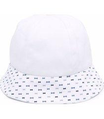 la stupenderia flat brim bucket hat - white