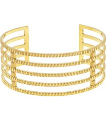 bracciale bangle big in bronzo dorato per donna