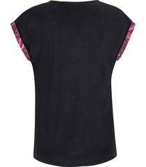 shirt met aangeknipte mouwen van emilia lay multicolour