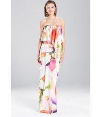 eden floral dress, women's, orange, size 8, josie natori