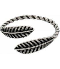 anel falange folha pollia store prata 925 - prata velho - feminino - dafiti