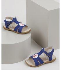 sandália papete infantil sonho de criança ancora azul