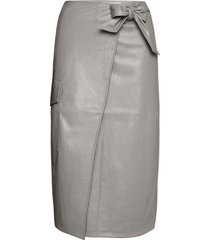 marie wrap skirt knälång kjol grå designers, remix