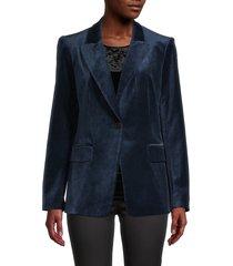 kobi halperin women's clara velvet blazer - smokey lapis - size l