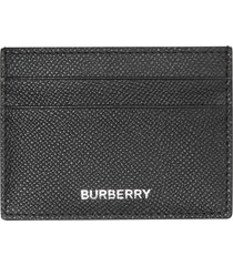 men's burberry grained leather card case -