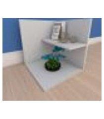 kit com 2 mesa de cabeceira moderno minimalista em mdf cinza