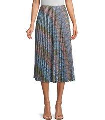 m missoni women's lurex chevron pleated skirt - pink - size l