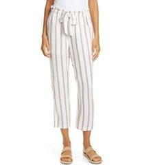 women's joie cavell stripe tie waist pants