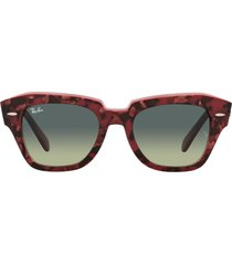 ray-ban ray-ban rb2186 havana on transparent purple sunglasses