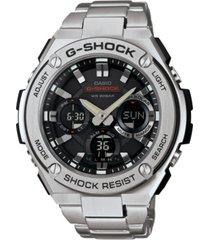 g-shock men's analog-digital stainless steel bracelet watch 52x60mm gsts110d-1a