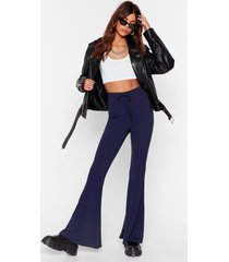 womens flare-r than that high-waisted pants - navy