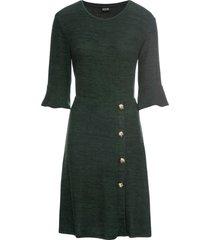 abito di jersey con bottoni (verde) - bodyflirt