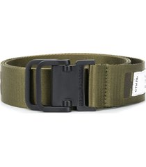 heron preston logo canvas belt - green