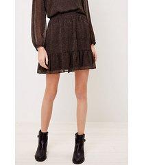 loft flecked pull on ruffle skirt