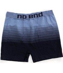 boxer azul no end rayas