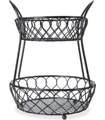 gourmet basics by mikasa loop & lattice 2-tier basket