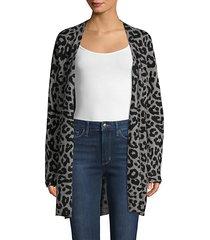 leopard-print cashmere longline cardigan