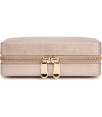 wolf palermo zip jewelry case - metallic