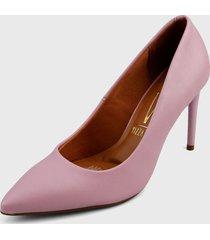 tacón alto rosa vizzano