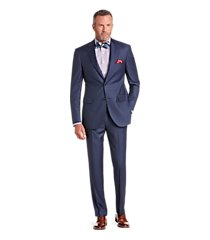 signature gold collection tailored fit herringbone men's suit - big & tall by jos. a. bank