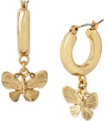 betsey johnson butterfly huggie earrings
