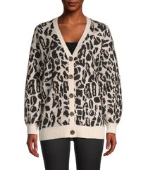 trina turk women's leopard-print cardigan - size s