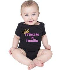 body bebe princesa da família roupas menina bodies criativa urbana