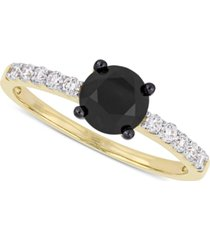 diamond black & white engagement ring (1-1/4 ct. t.w.)