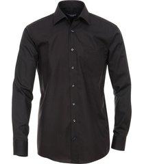 casamoda overhemd effen poplin kent ml5 comfort fit