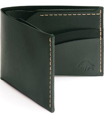 ezra arthur no. 6 leather wallet in green at nordstrom