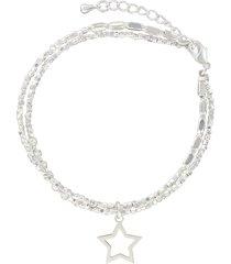 bracciale multifilo stella in metallo in stile boho chic per donna