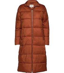 gaiagro long jacket gevoerde lange jas oranje cream