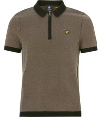 t-shirt micro repeat jacquard knitted polo