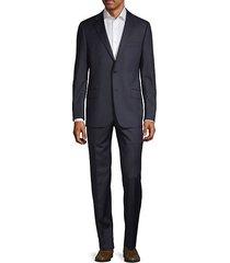 classic fit milburn iim series stripes wool suit