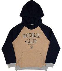 block topwear in techno fleece with hood